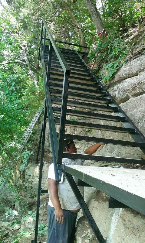 Cliff Side Steel Stair Build Herrington Lake Lancaster Ky