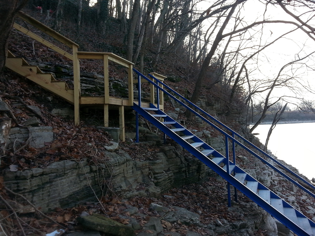 Steel Stairs U0026 Boat Dock Gangway / Herrington Lake / Danville,Ky Area    Cocanougheru0027s Dock Solutions U0026 Construction Services